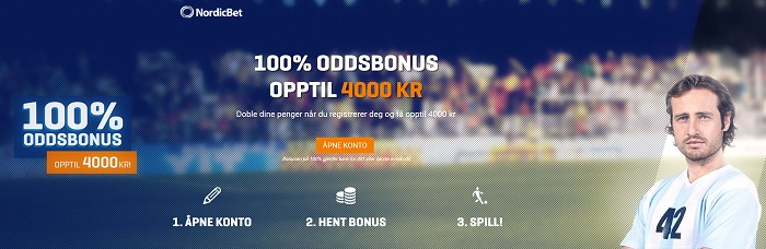 Best oddsbonus for tipping 2018 med Nordicbet
